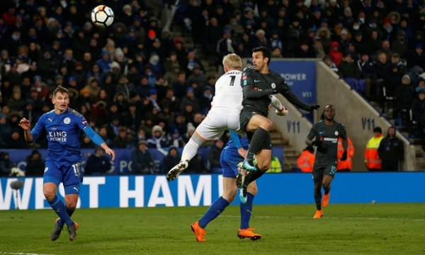 Pedro's extra-time header takes Chelsea past Leicester into semi-finals