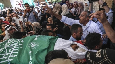 Palestinian youth succumbs to Israeli gunfire wounds suffered in Gaza rally