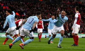 Vincent Kompany leads the way for Manchester City's old boys in victory