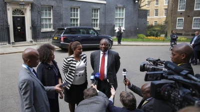 South Africa president cuts short UK visit amid unrest at home